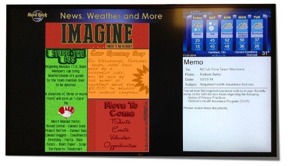 Digital Signage Content Example